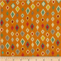 Riley Blake Boy Crazy Flannel Diamond Orange