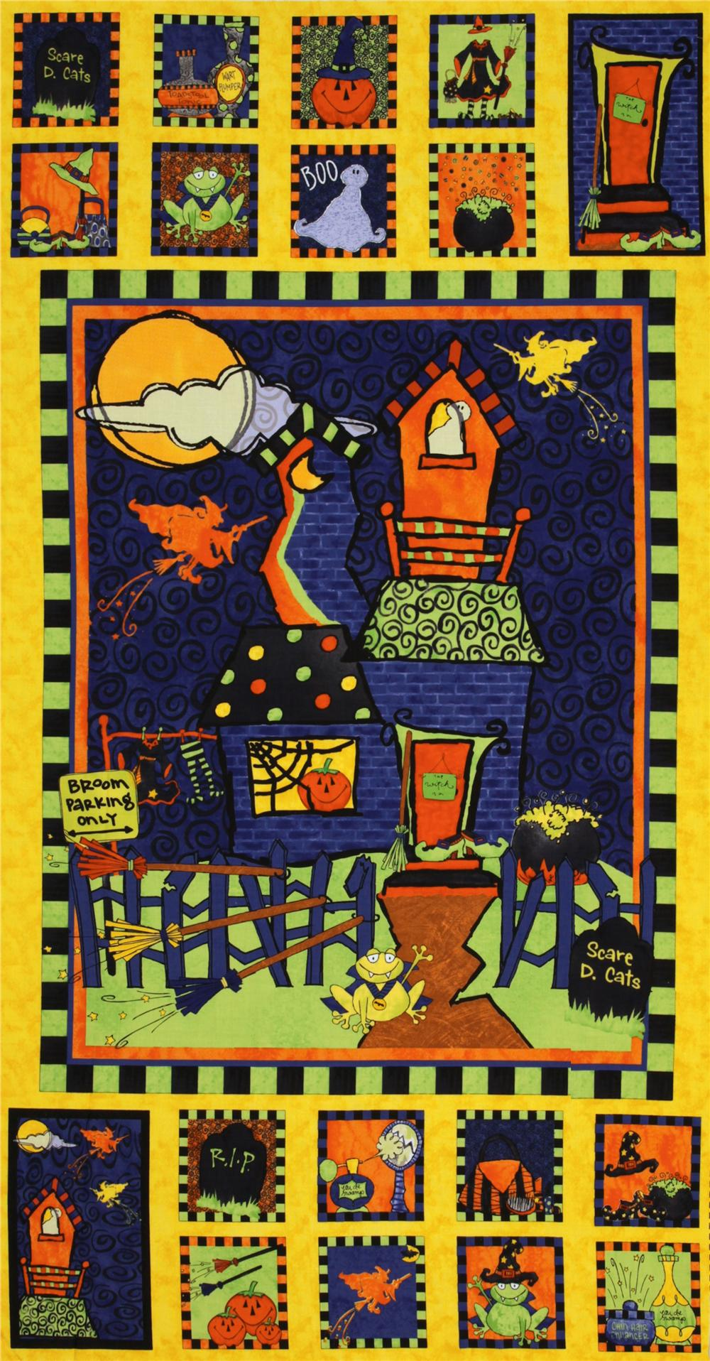 Halloween Delight Panel Yellow