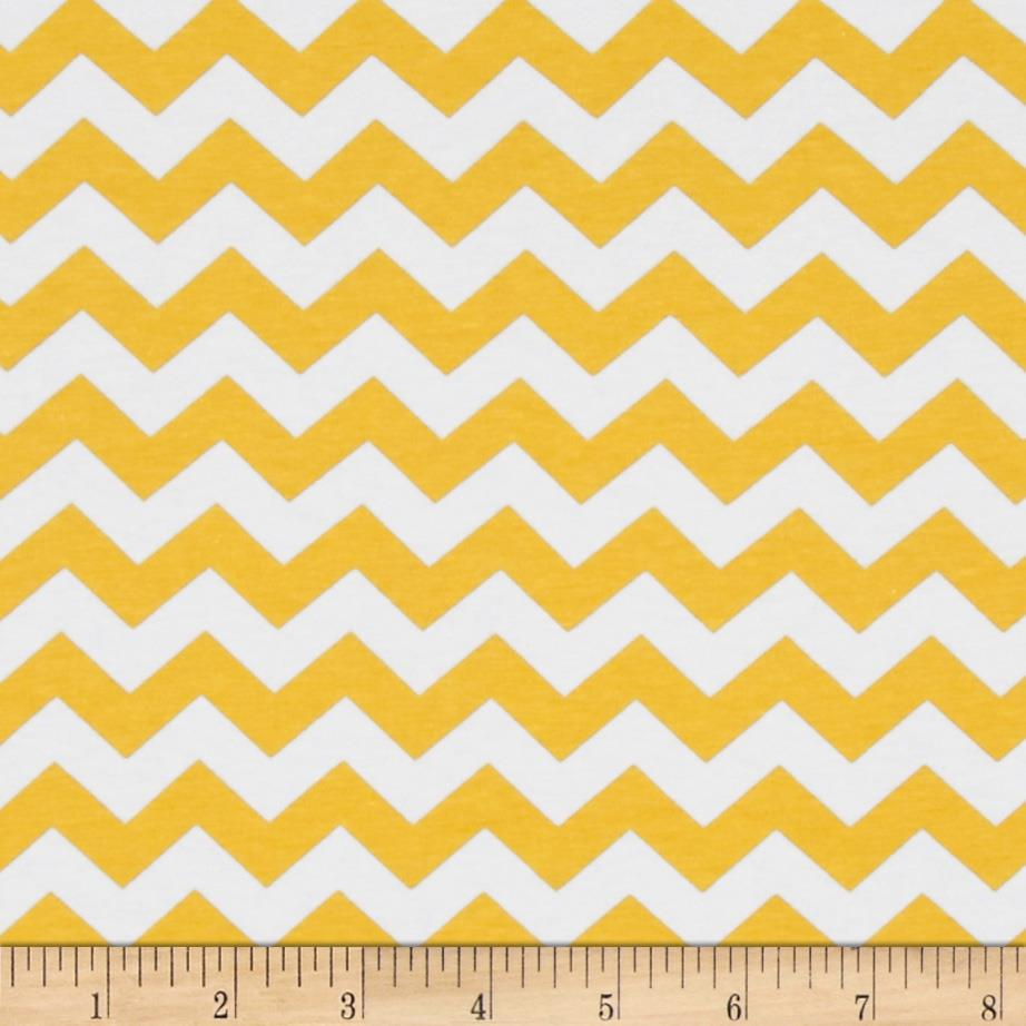 Riley Blake Cotton Jersey Knit Chevron Small Yellow