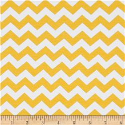 Riley Blake Stretch Cotton Jersey Knit Cotton Jersey Knit Chevron Small Yellow
