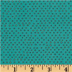 Pixie Square Dot  Dark Aqua