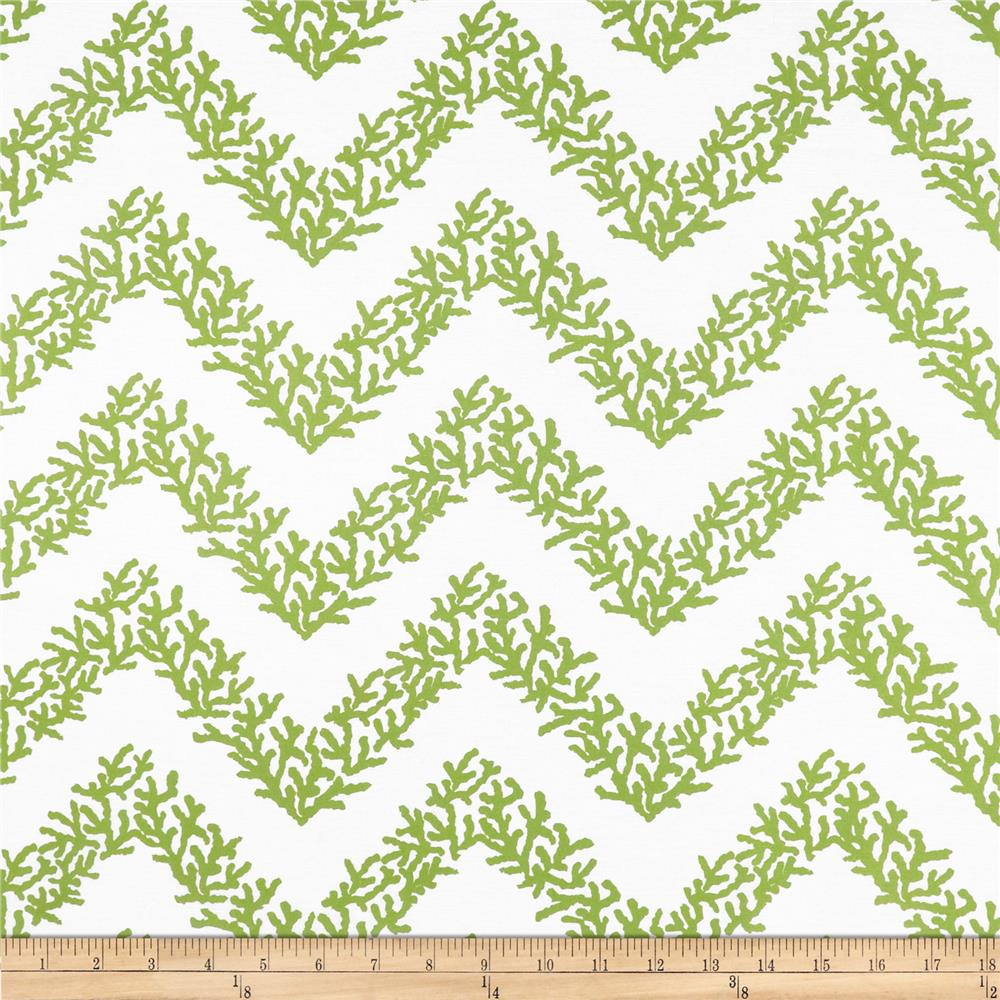 RCA Coral Chevron Sheers Lime
