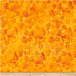 Timeless Treasures Tonga Batik Pinata Butterfly Orange