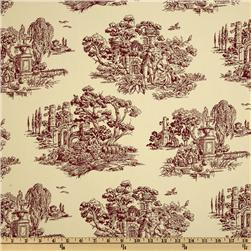 Latress Simone Toile Cream/Burgundy