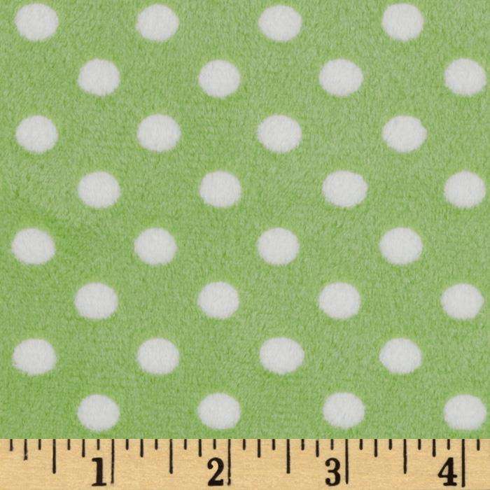 Minky Cuddle Polka Dot Lime/White