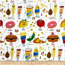 Nicole's Prints Snappy Snacks Natural Fabric
