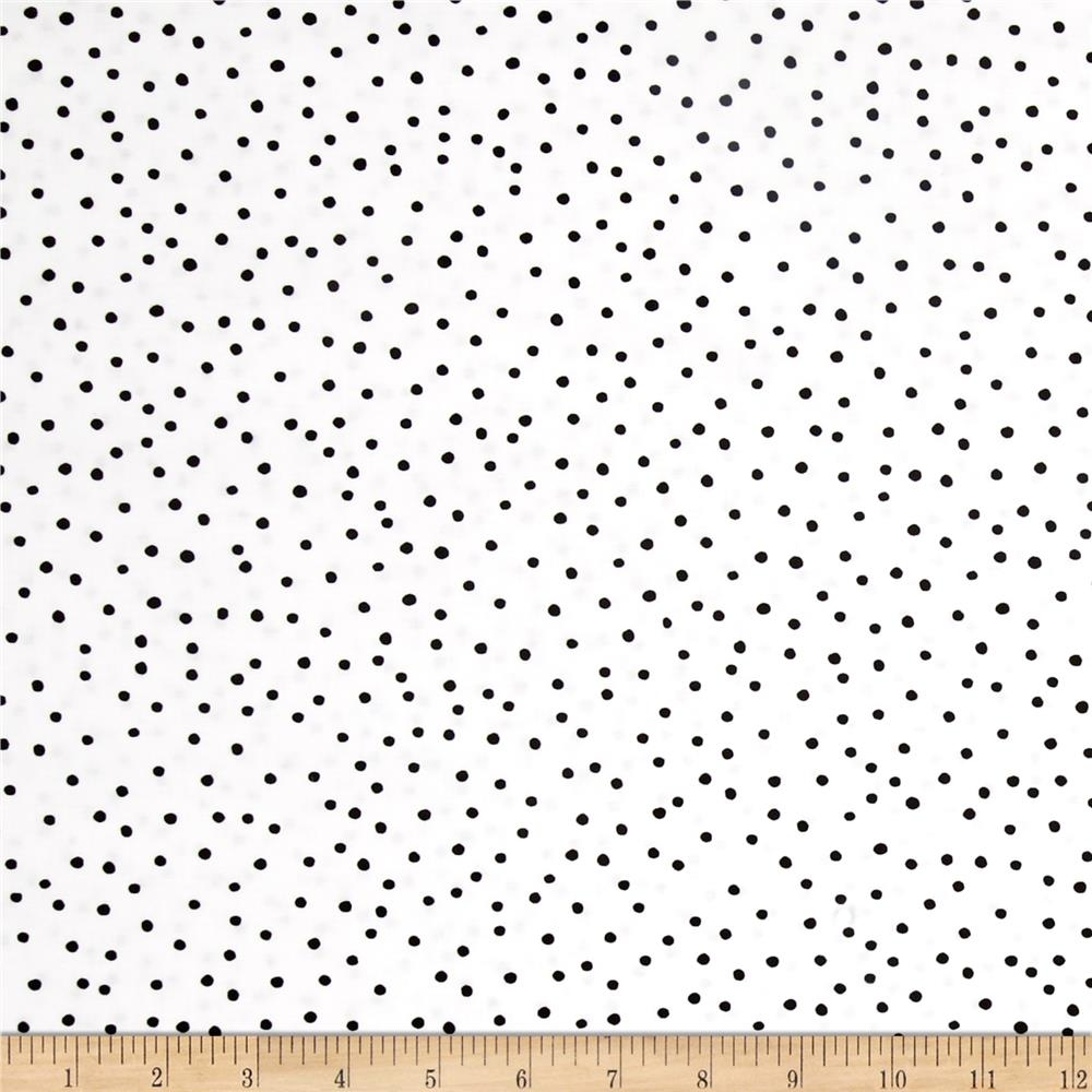 Loralie Designs Fast Women Dinky Dots White Black