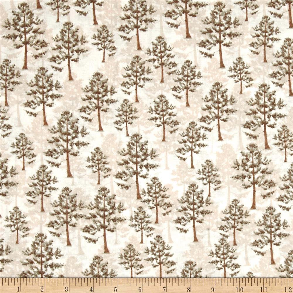 Northwoods Trees Cream