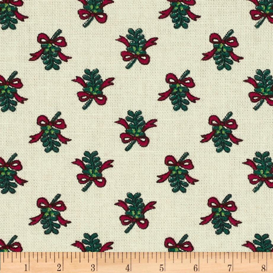 Mistletoe & Holly Bows Cream