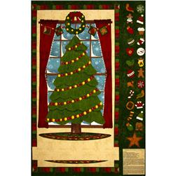 Ginger Tree Advent Calendar Panel Green