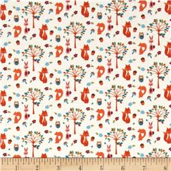 Fabric Freedom Woodland Animals Animals & Trees Cream