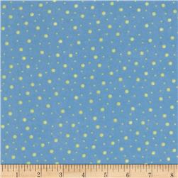 Kimberbell Little One Flannel Too! Flannel Random Dots Blue Green