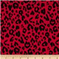 Single Knit Leopard Red/Black