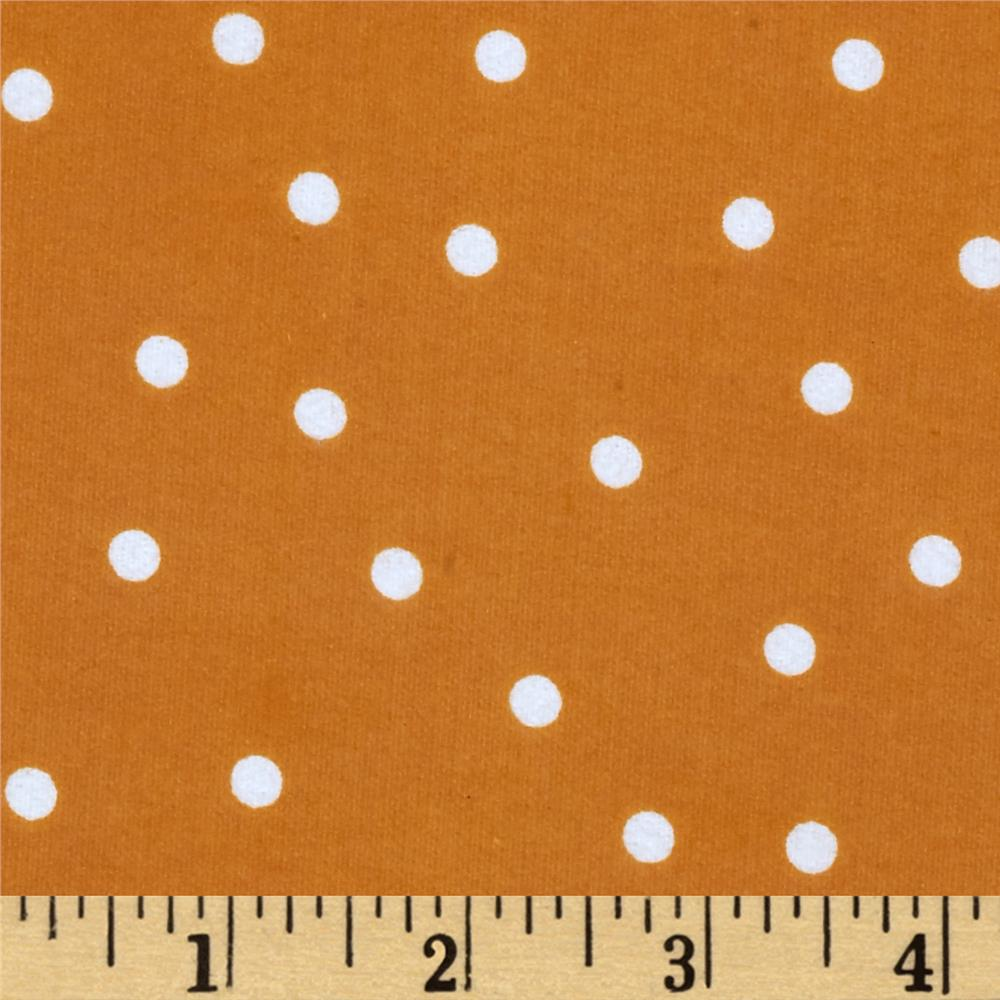 Essentials Flannel A Dot is a Dot Orange
