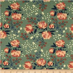 Birch Organic Acorn Trail Knit Peonies Mint