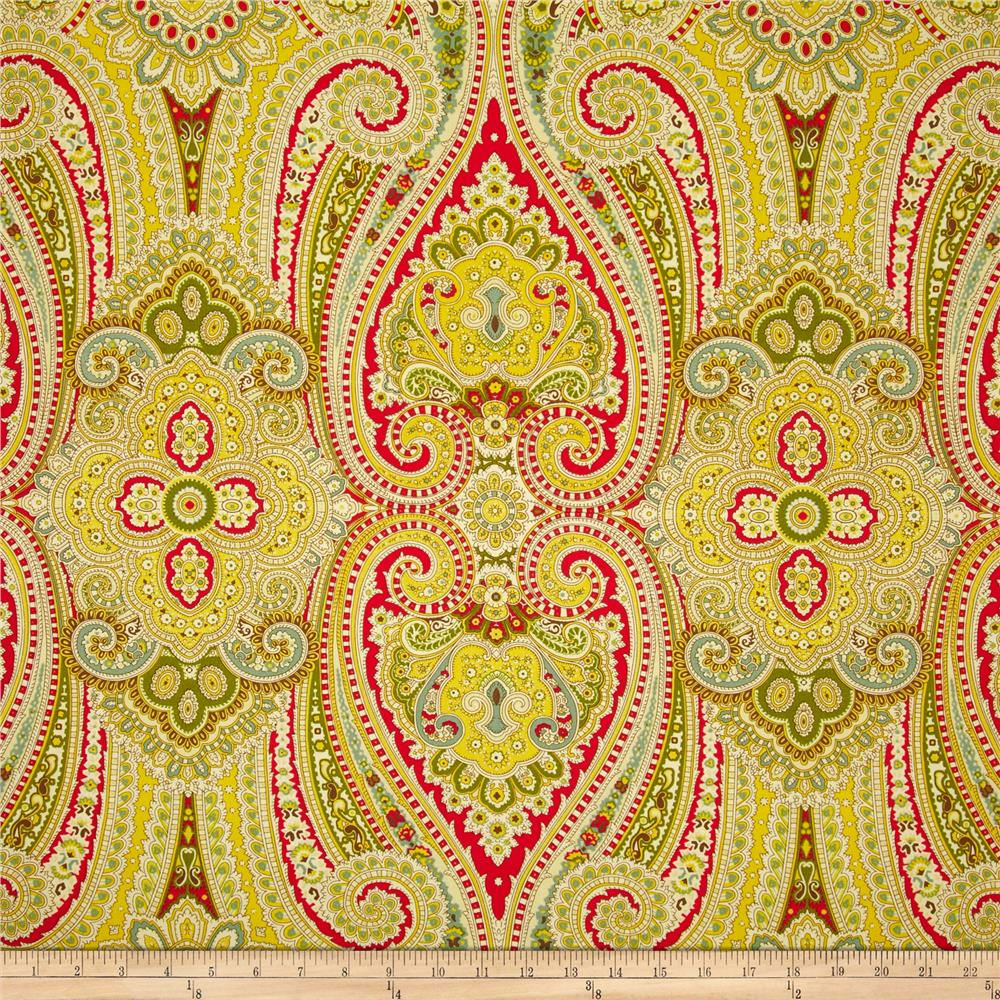 Waverly Paisley Pizzazz Sateen Honeysuckle