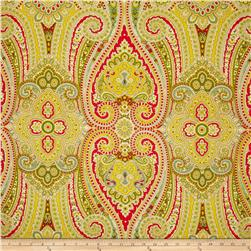 Waverly Paisley Pizzazz Sateen Honeysuckle Fabric