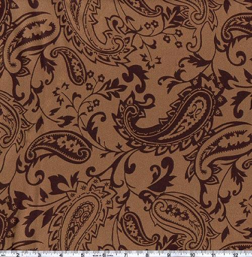 Charmeuse Satin Paisley Brown/Chocolate