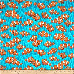 Timeless Treasures Clown Fish Aqua
