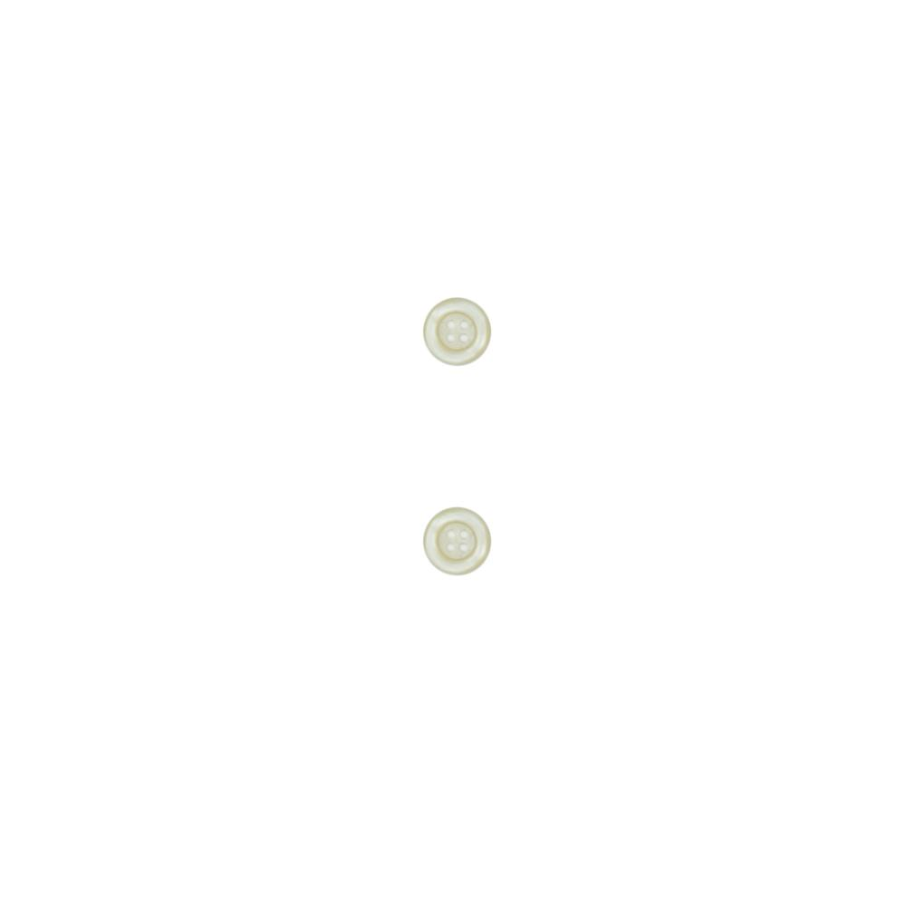 "Dill Classic Buttons 5/8"" Polyamid Buttons White"