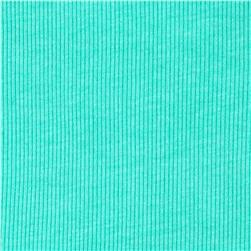 Basic Cotton Blend Rib Knit Cool Mint
