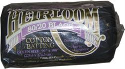 Hobbs Heirloom 80/20 Cotton Blend Batting Queen Black