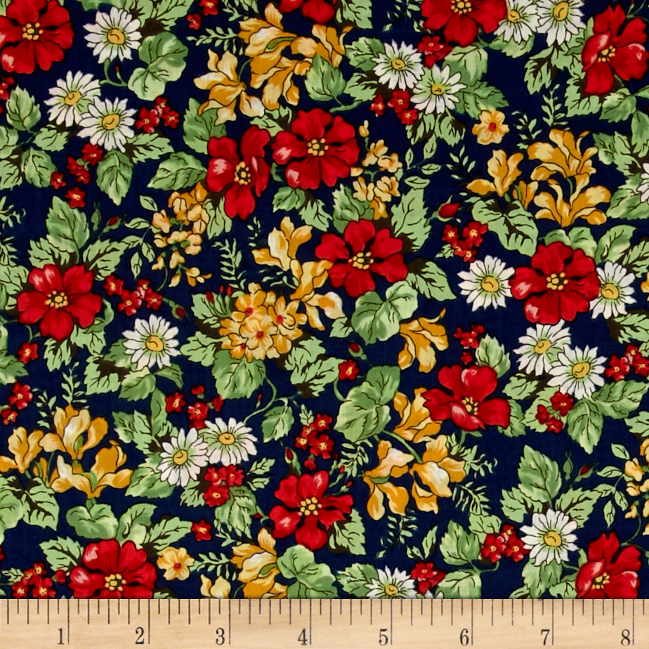 Kaufman London Calling Lawn Floral Multi Fabric by Kaufman in USA