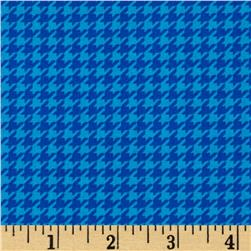 Timeless Treasures Lauren Houndstooth Turquoise