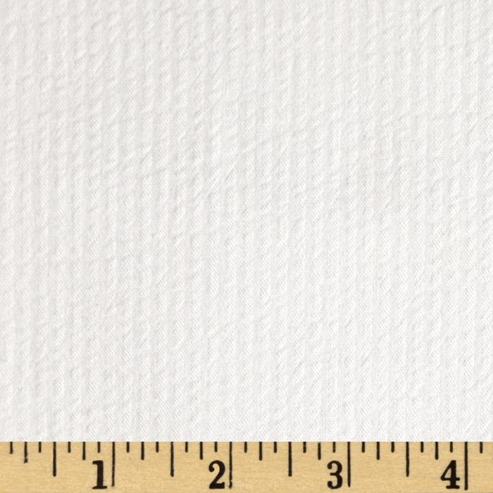 Cotton Seersucker Stripe White/White