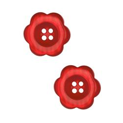 Riley Blake Sew Together 2'' Flower Button Red