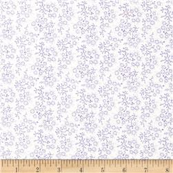 Mini Floral White/Lilac Fabric