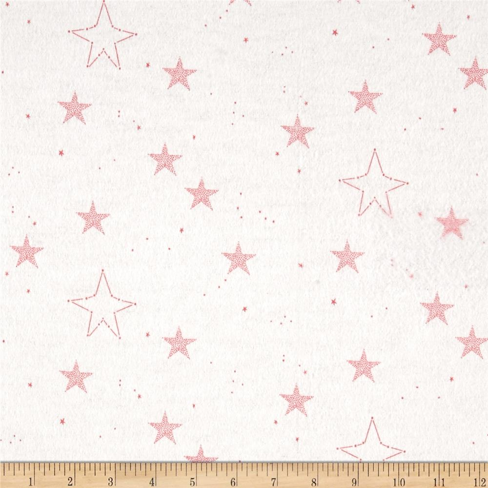 Michael Miller Flannel Sarah Jane Magic Lucky Stars Pink