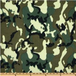Fleece Camo Green