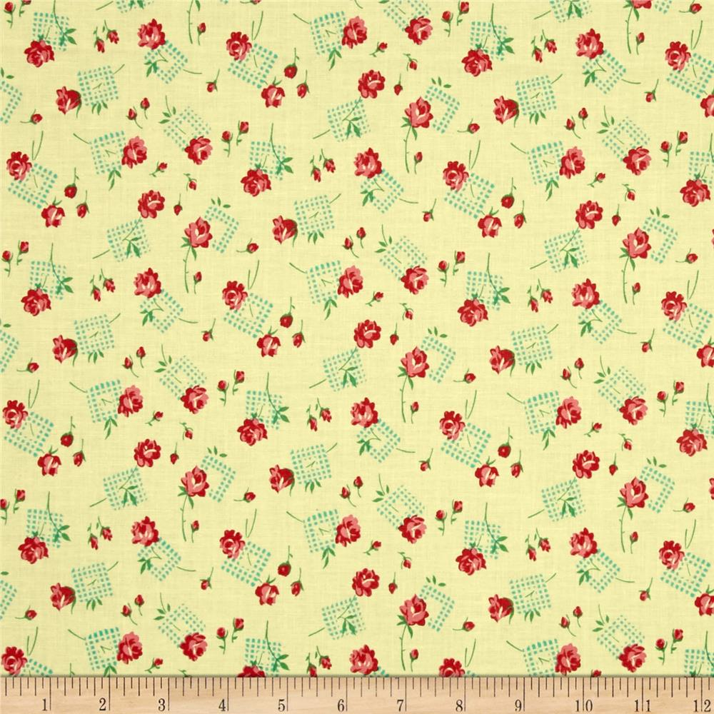 Verna Mosquera Sugar Bloom Gingham Garden Pineapple