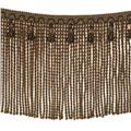 "Fabricut 9"" Mountain Resort Bullion Fringe Walnut"