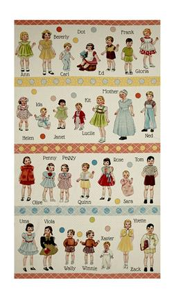 "Moda Hop, Skip, And A Jump! Paper Doll 24"" Panel"