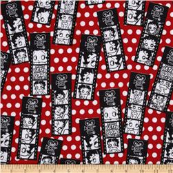 Betty Boop Flannel Red Fabric