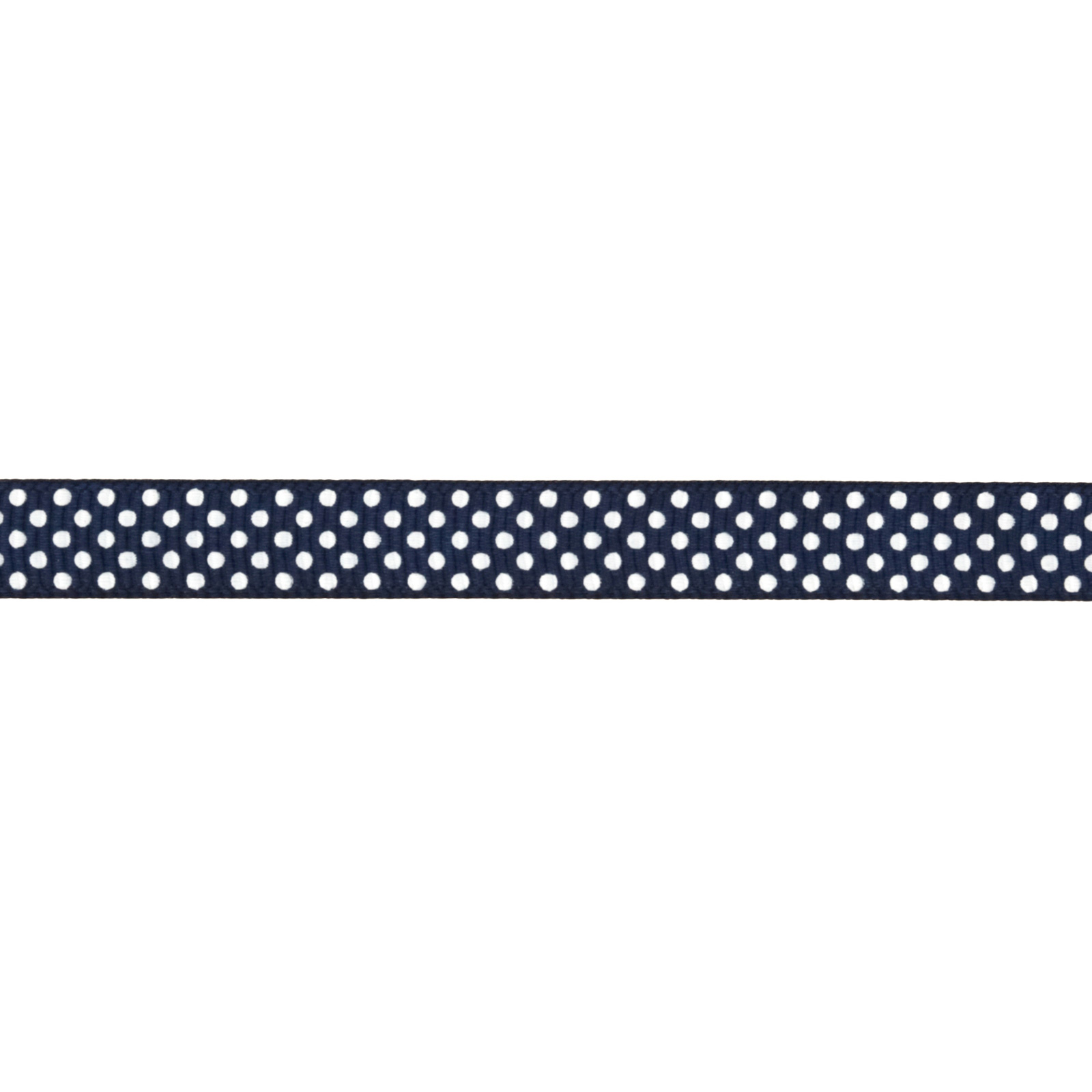 Riley Blake 3/8'' Grosgrain Ribbon White Dots Navy