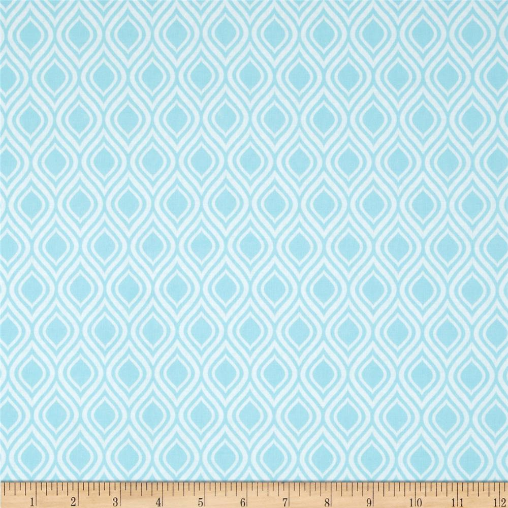 Metro Living Flame Stripe Aqua