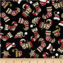 Holly Jolly Stockings Black