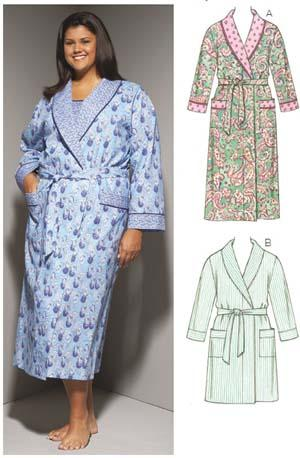 Kwik Sew Robes Plus Size Pattern