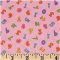 ABC's & 123 Small Numbers Pink