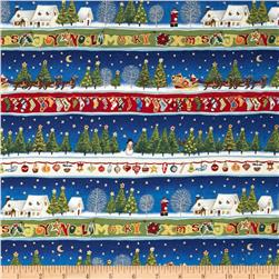 Christmas 2013 Classic Border Stripe Metallic Multi