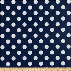 Riley Blake Laminate Medium Dots Navy/White