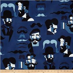 Nicole's Prints Mister Stache Denim