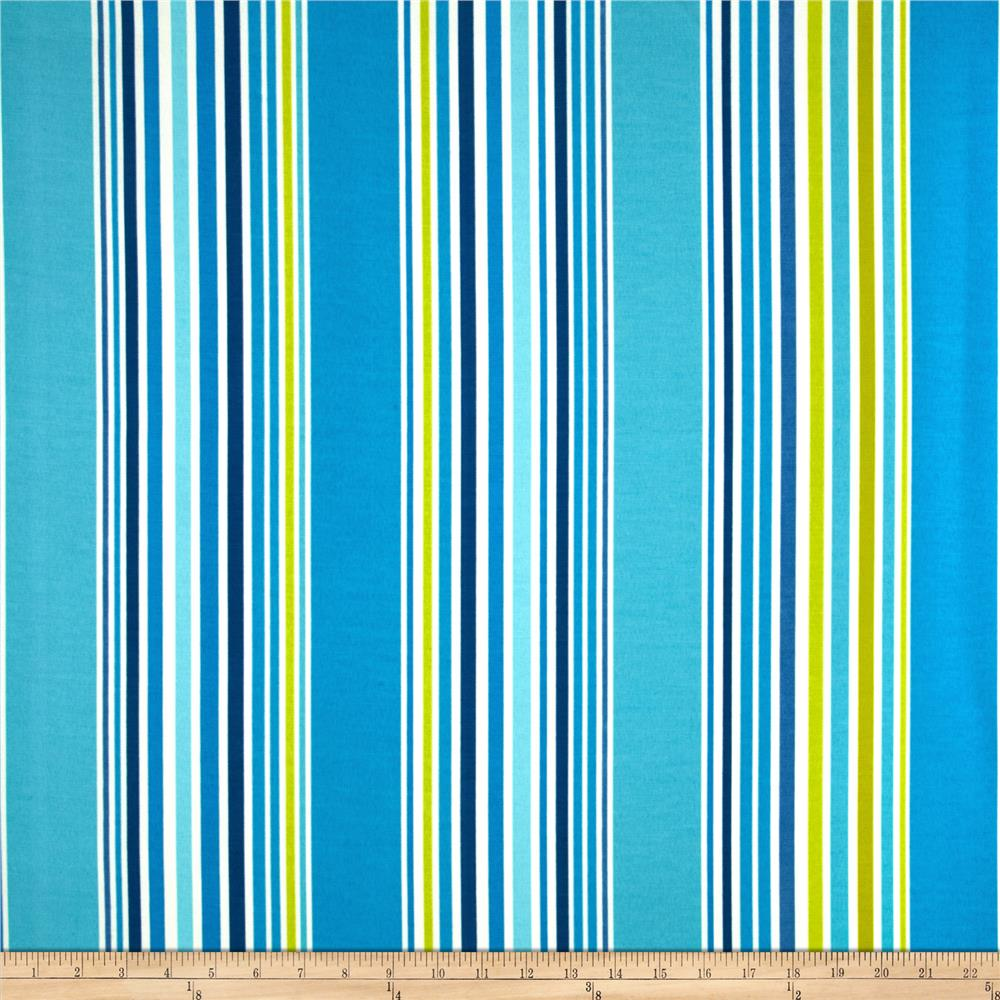 P/Kaufmann Indoor/Outdoor Deck Stripe Sea Glass