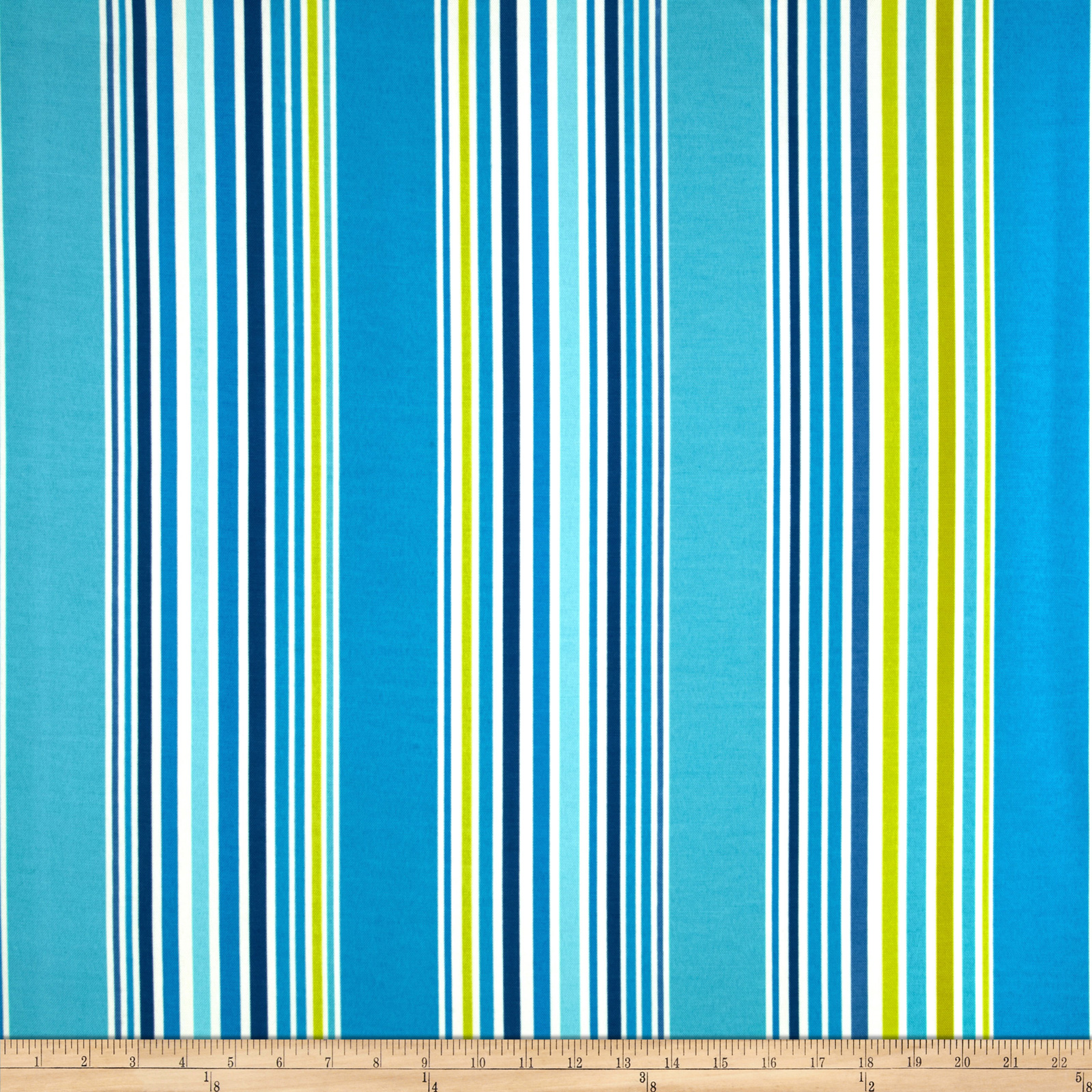 P Kaufmann Indoor/Outdoor Deck Stripe Sea Glass Fabric
