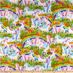 Timeless Treasures Unicorns and Rainbows Multi