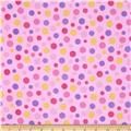 Comfy Flannel Large Dots Pink