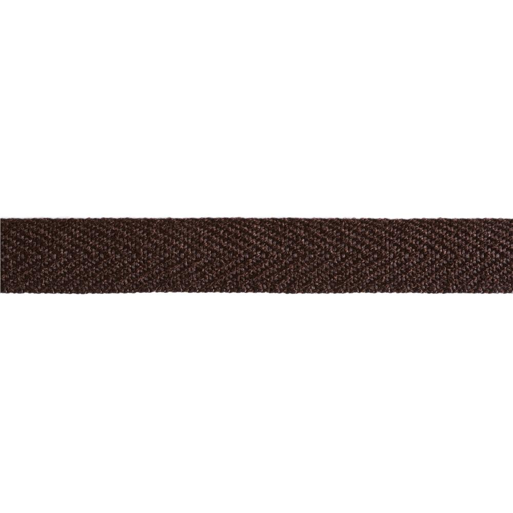 3/4'' Poly Twill Tape Ribbon Brown